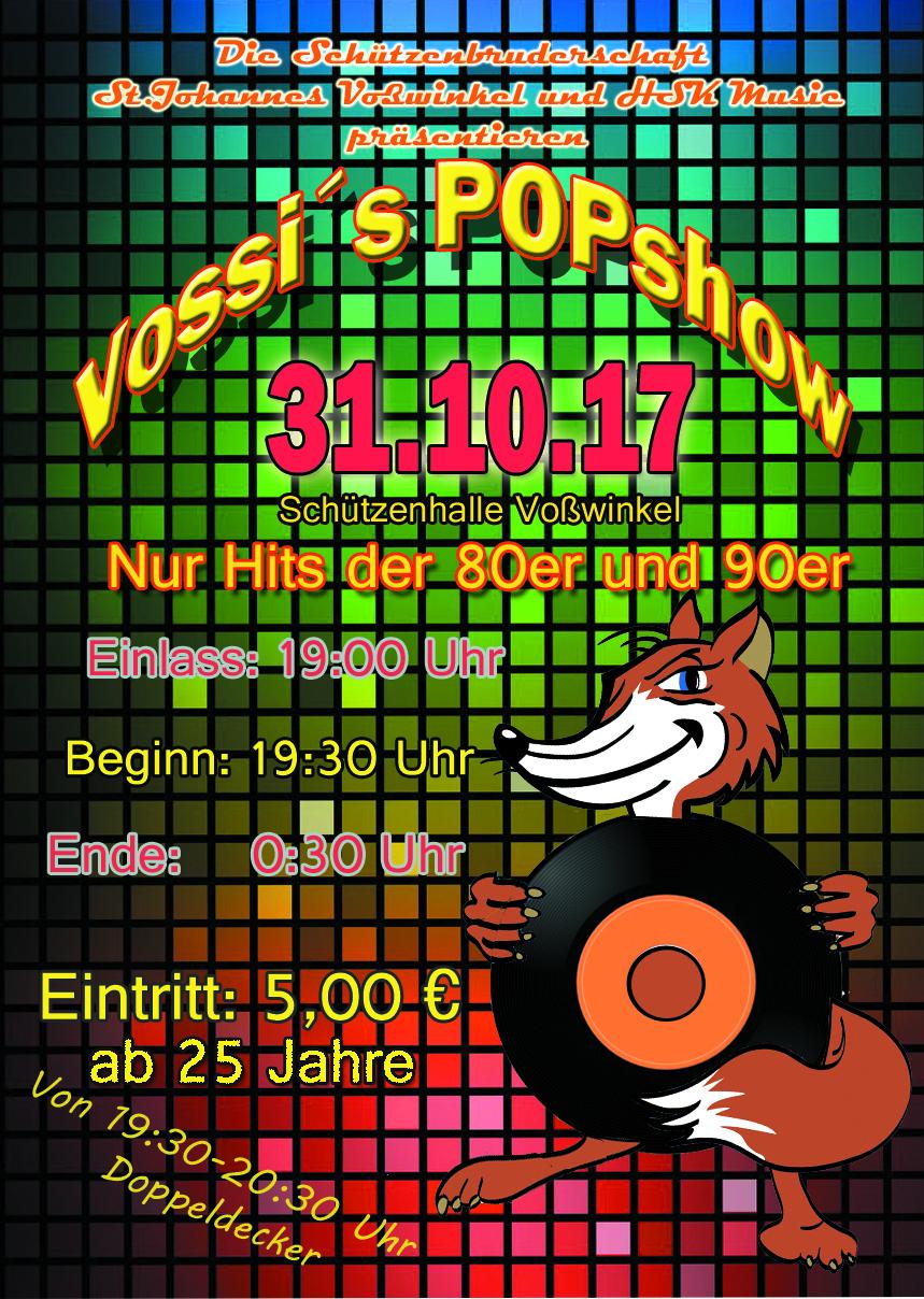 Plakat Vossis popshow Kopie